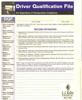 Driver Qualification File Packet - Basic