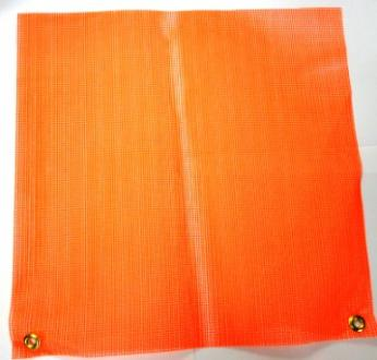 Warning Flag with Grommets, Orange Mesh