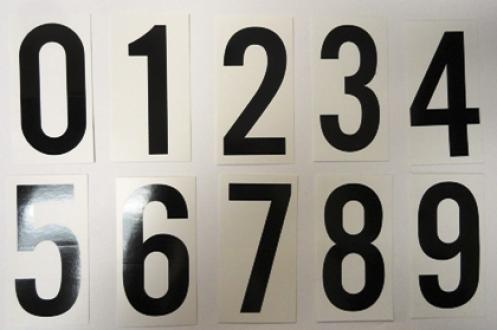 Vinyl Numbering Kits for Placards