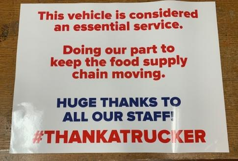 Essential Service Decal